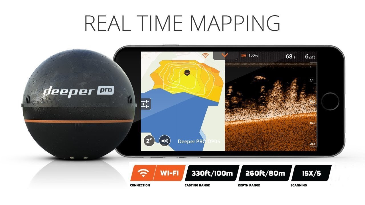 deeper smart sonar pro+ review – the best portable fish finder, Fish Finder