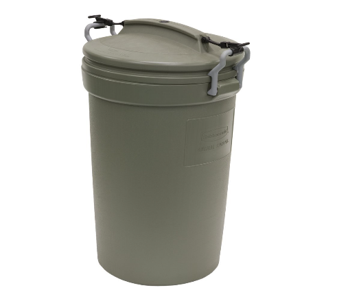 Raccoon Proof Trash Can with Locking Handle Straps