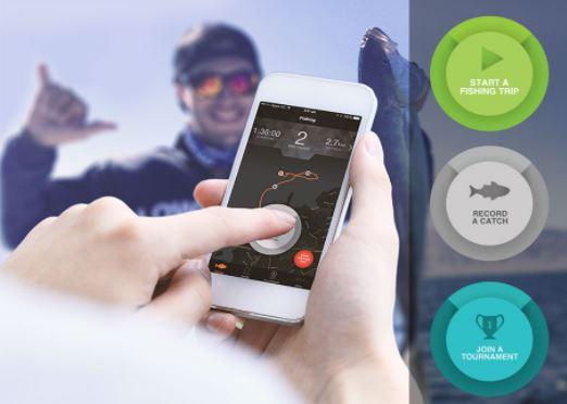 Fishing app on phone